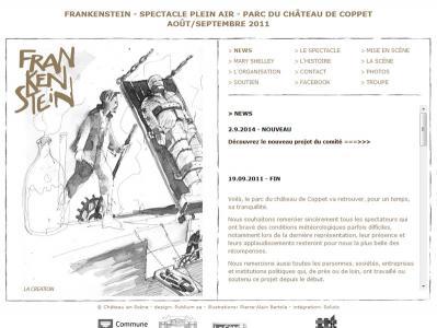 "Réalisation du site internet du spectacle ""Frankenstein Coppet"""