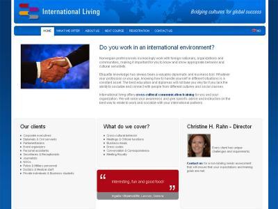 Réalisation du site internet International Living