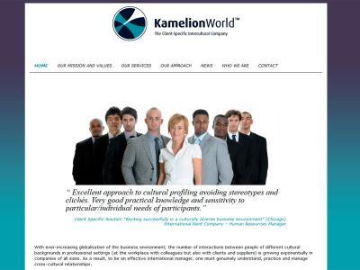 Réalisation du site internet de Kamelionworld