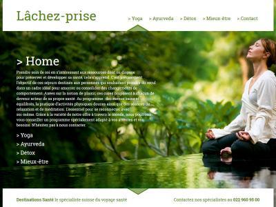 Réalisation du site internet de Lachez-Prise, pour destinations.ch