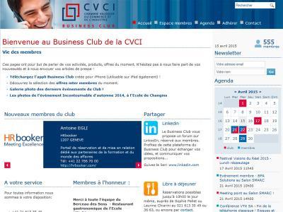 Réalisation du site internet du Business Club de la CVCI