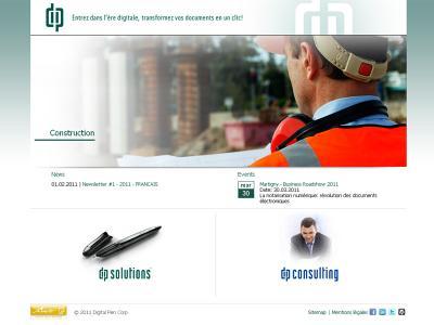 Réalisation du site internet de Digital Pen Corp