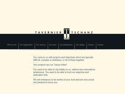 Réalisation du site internet de l'étude Tavernier Tschanz